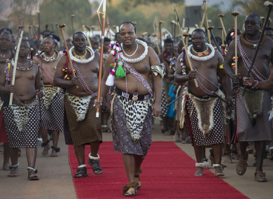 The king of swaziland has changed the countrys name to eswatini king mswati iii c attends a traditional ceremony umhlanga festival at ludzidzini royal thecheapjerseys Image collections
