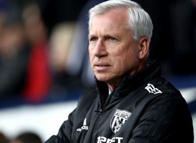 Former Baggies boss Alan Pardew.