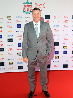 John Aldridge during the red carpet arrivals for the 2018 Liverpool Players' Awards at Anfield.