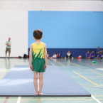Luke Elliotte (7) from Donegal gets ready to perform in the gymnastics under 9s at Aldi Community Games Festival<span class=