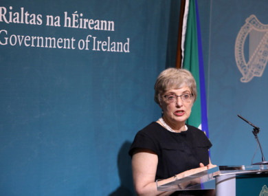 Minister Katherine Zappone revealed the controversy at a press conference yesterday.