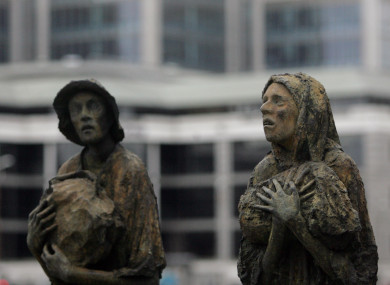 The Famine Sculptures in Dublin