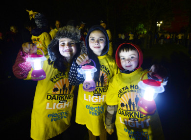 Happy walkers at last year's Darkness Into Light.