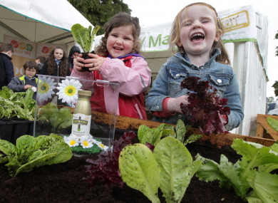 Karen Steel and Myla Fahey learning to grow their own at a previous instalment of Bloom.