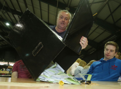 File photo of ballot boxes being opened at the same sex marriage referendum in the RDS in Dublin in 2015.