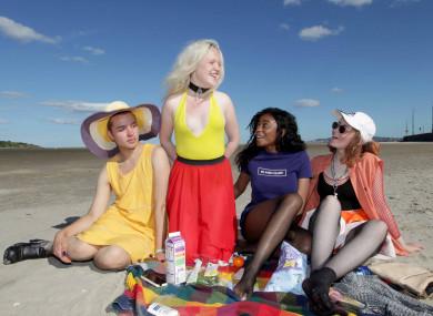 Dylan Kerr, Megan Russell, Nyisha Chitomdo and Anja Maye enjoying the sun two summers ago.