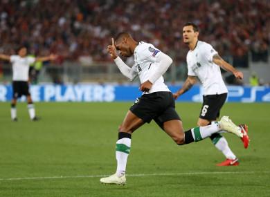 Liverpool's Georginio Wijnaldum celebrates scoring his side's second goal of the game.