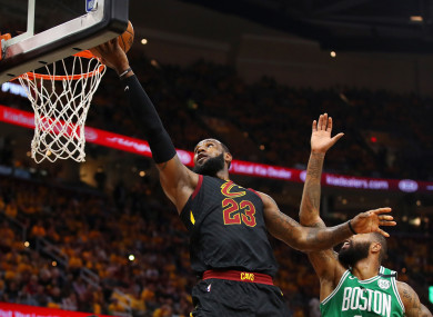 LeBron James in action.
