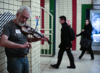 Busking is common in tube stations and across landmarks in London.