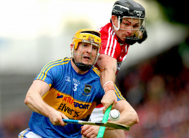 Cork's Colm Spillane and Tipperary's Seamus Callanan.