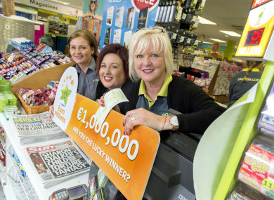 Gillian Scanlon, Martina Walsh and Margaret Sheehan, who work at the Eason store in Wilton Shopping Centre in Cork.