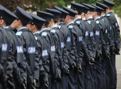 Recruits at the Garda Training College in Templemore (2016).