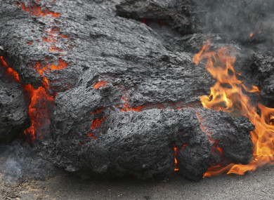 Lava has spurted onto nearby roads causing residents to evacuate.