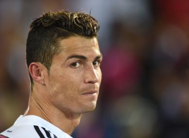 Real Madrid's Cristiano Ronaldo (file pic).