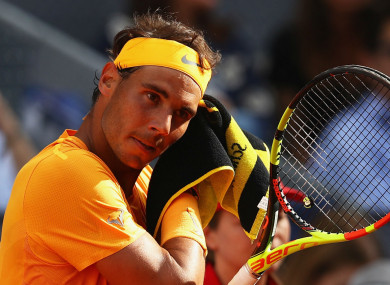 Rafael Nadal following his loss to Dominic Thiem.