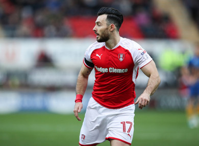 The Dubliner has been on loan at Rotherham all season from Chris Hughton's Brighton.
