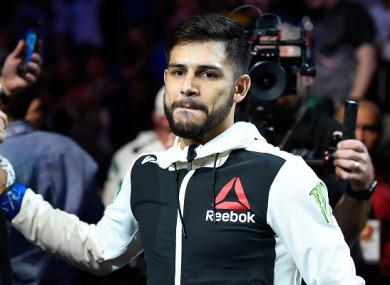 UFC featherweight Yair Rodriguez.