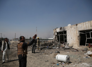A suicide bombing in Kabul earlier this year.