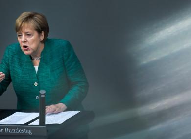 German Chancellor Angela Merkel, 28 June 2018.