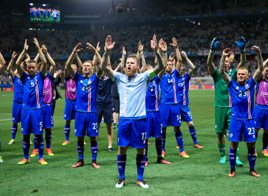Thunderclap: Iceland celebrate (file pic).
