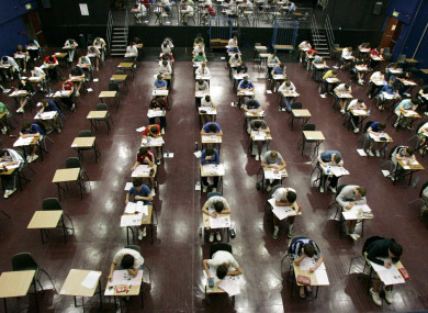 Leaving Certificate students sitting their exams in 2009