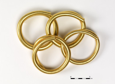 Gold artefacts found in Donegal dated from the Bronze Age