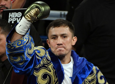 Middleweight champion Gennady Golovkin