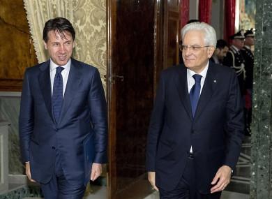 Prime Minister Giuseppe Conte and President Sergio Mattarella