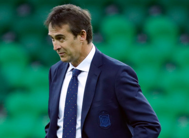 Real Madrid's new coach Julen Lopetegui.