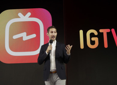 Instagram CEO Kevin Systrom announcing IGTV in San Francisco