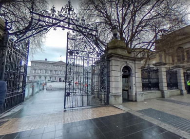 The gates of Leinster House.