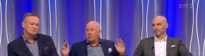 Liam Brady and Richie Sadlier were at odds after VAR helped overturn Neymar's penalty claim