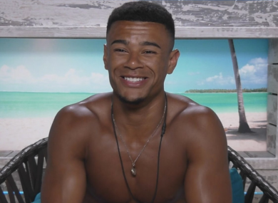 Love Island's Wes speaks to the camera.
