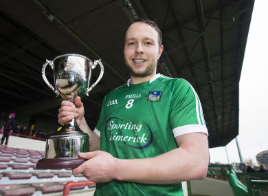 Paul Browne pictured after captaining Limerick to victory in January's Munster Senior Hurling League final against Clare.