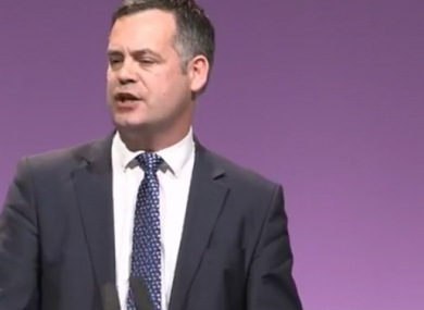 Pearse Doherty TD speaking at the Sinn Féin Ard Fheis in Belfast this evening.