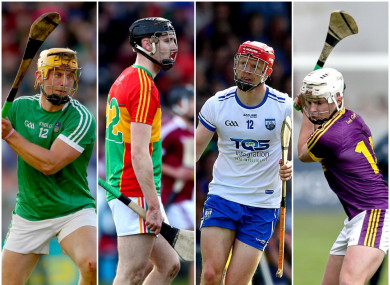 Plenty to play for for the hurlers of Limerick, Carlow, Waterford and Wexford.