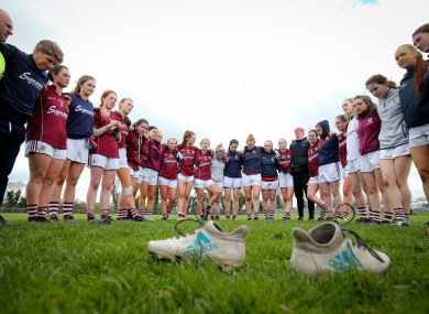 The Galway team pictured after their Division 1 semi-final against Dublin in April.