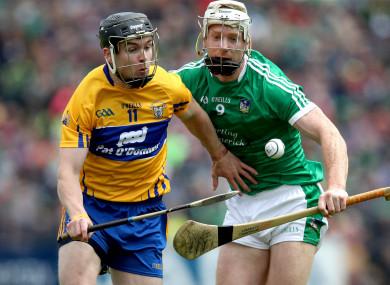 Clare's Tony Kelly and Limerick's Cian Lynch.