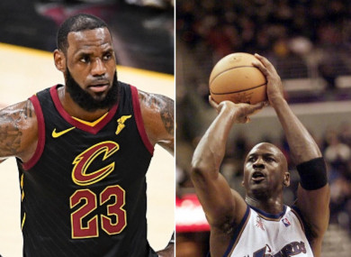 Kerr drew comparisons between James and Jordan.