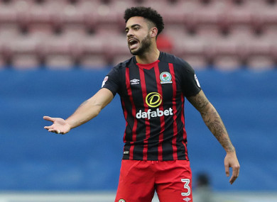 Williams is Blackburn's first-choice left-back.