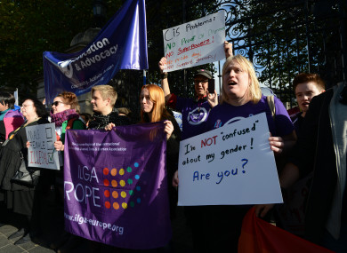 A 2012 rally for trans identities to be enshrined in Irish law.