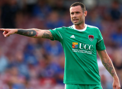 Damien Delaney featured for Cork City in their friendly against Portsmouth earlier this week.