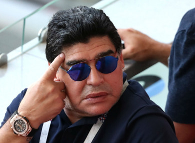 Controversy: Argentina legend Diego Maradona.