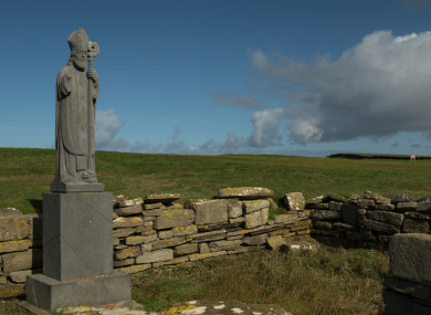 Statue at Downpatrick Head