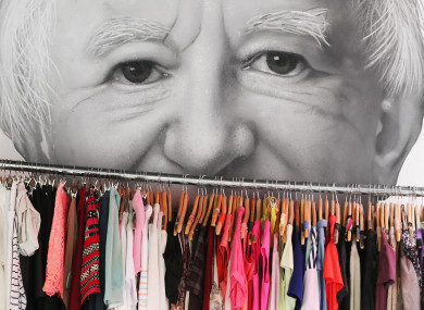 A mural of President Michael D Higgins by Subset in Temple Bar in Dublin.