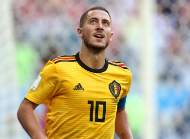 Hazard scored against England in Saturday's third-place play-off.