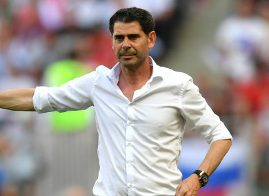 Fernando Hierro at the World Cup.