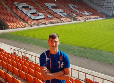 O'Connor pictured at Bloomfield Road today.