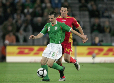 Miller in action for Ireland in 2009.