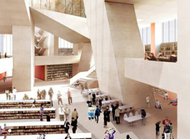 It is estimated that up to 3,000 people a day would use the new Dublin City Library.